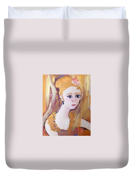 Deep In Thought  Duvet Cover by Judith Desrosiers