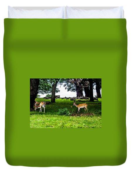 Deer In The Park Duvet Cover