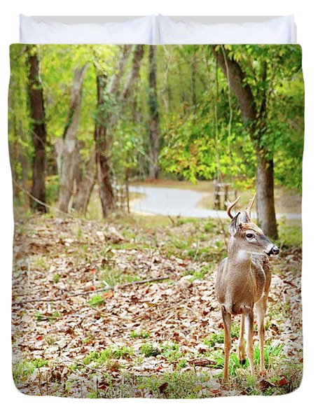 Deer Me, Are You In My Space? Duvet Cover