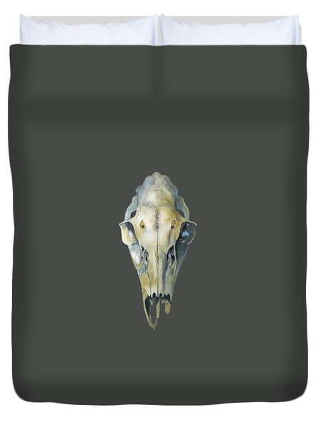 Deer Skull With Aura Duvet Cover by Catherine Twomey