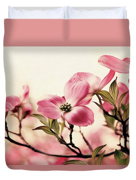 Duvet Cover featuring the photograph Delicate Dogwood by Jessica Jenney