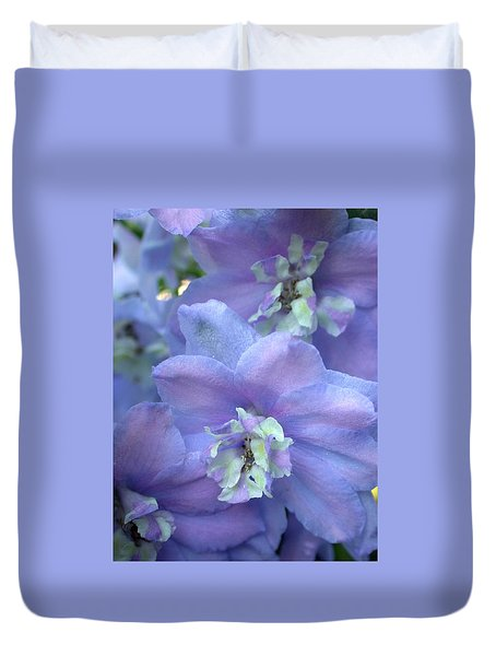 Duvet Cover featuring the photograph Delphinium by Living Color Photography Lorraine Lynch