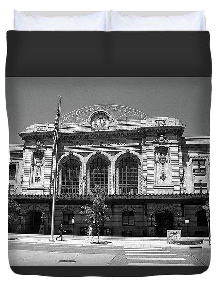 Denver - Union Station Film Duvet Cover by Frank Romeo
