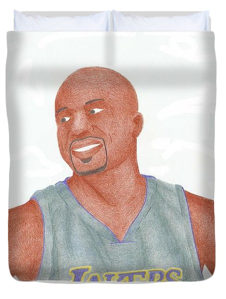 Derek Fisher Duvet Cover by Toni Jaso