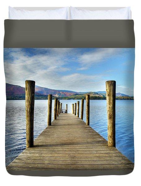 Derwent Water Pier Duvet Cover