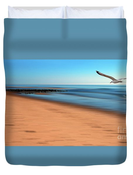 Duvet Cover featuring the photograph Desire Light  by Hannes Cmarits