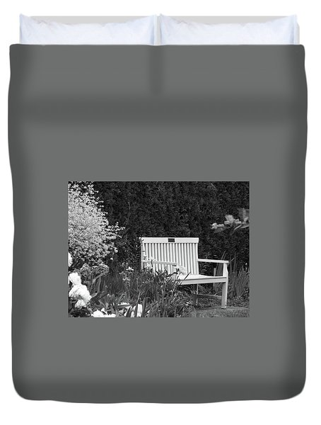 Desolate In The Garden Duvet Cover