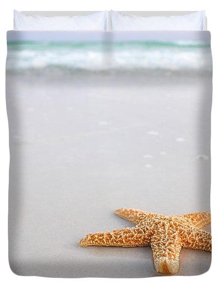 Destin Florida Miramar Beach Starfish Duvet Cover