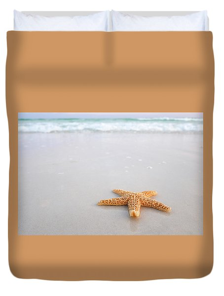 Destin Florida Miramar Beach Starfish Duvet Cover