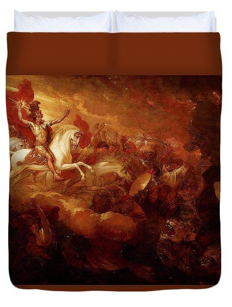 Destruction Of The Beast And The False Prophet Duvet Cover