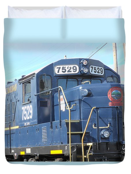 Diesel Engline Train Duvet Cover