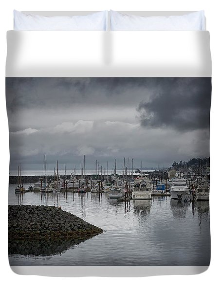 Discovery Harbour Duvet Cover by Randy Hall
