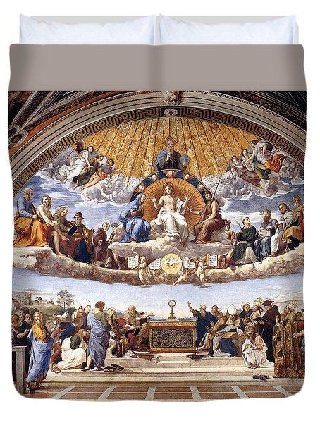 Disputation Of The Eucharist Duvet Cover