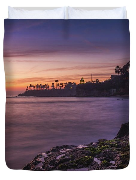 Diver's Cove Sunset Duvet Cover