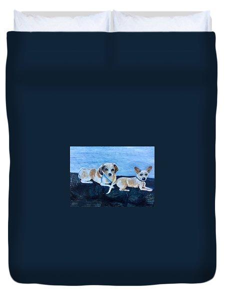 Dogs Resting Duvet Cover