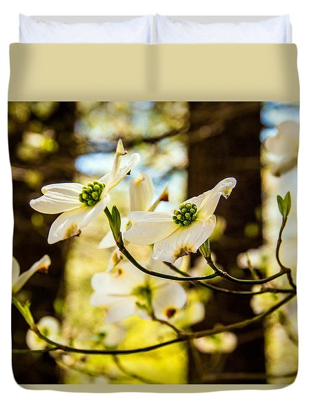 Dogwood Day Afternoon Duvet Cover by John Harding