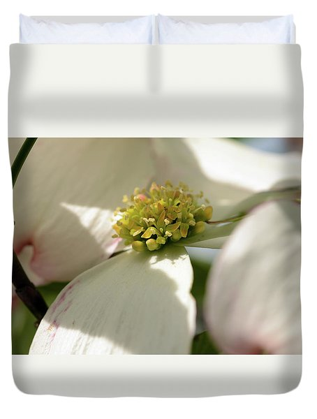 Dogwood Jewels Duvet Cover by Wanda Brandon