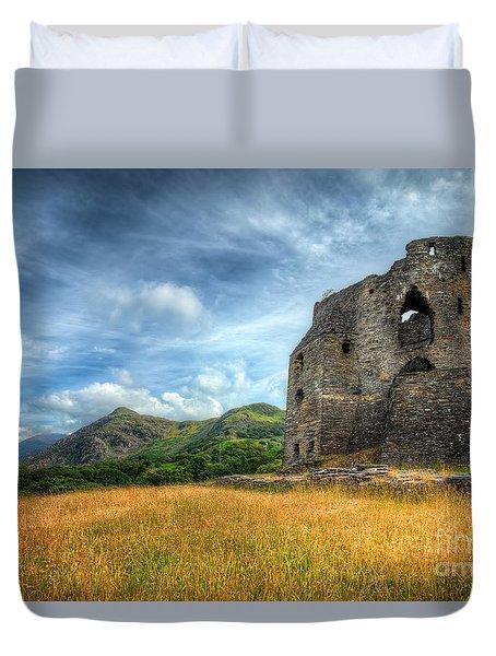 Dolbadarn Castle Duvet Cover by Adrian Evans
