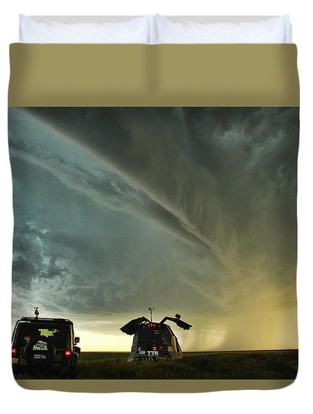 Dominating The Storm Duvet Cover
