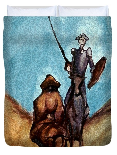 Don Quixote  Duvet Cover by Kevin Middleton