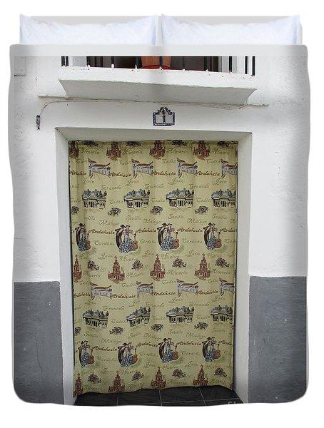 Door In Portugos Duvet Cover