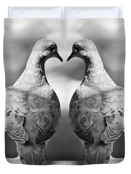 Dove Birds Duvet Cover by Randall Nyhof