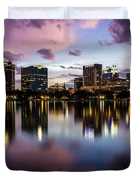Downtown Orlando Duvet Cover