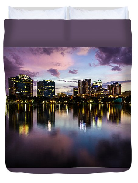 Downtown Orlando Duvet Cover