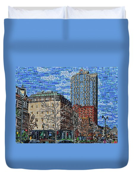 Downtown Raleigh - Fayetteville Street Duvet Cover by Micah Mullen