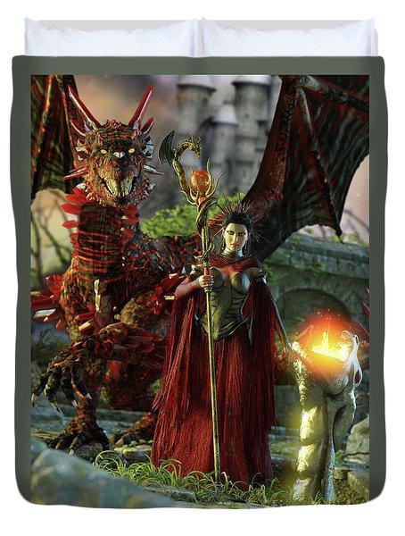 Dragon Queen Duvet Cover