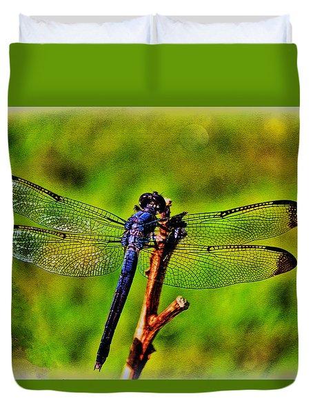 Dragonfly Blues Duvet Cover