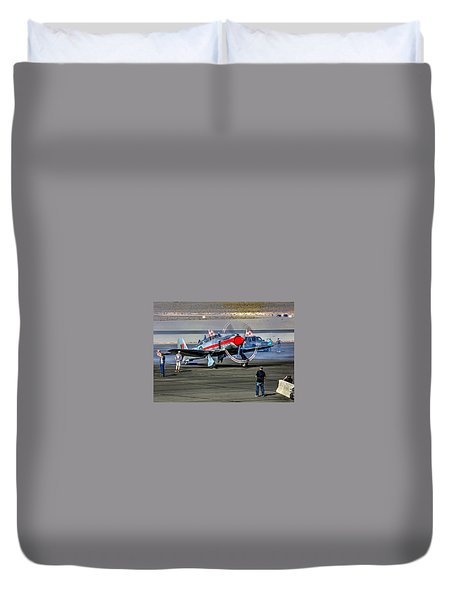 Duvet Cover featuring the photograph Dreadnought Startup by John King