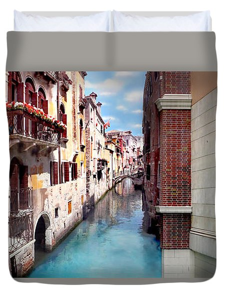 Dreaming Of Venice Panorama Duvet Cover