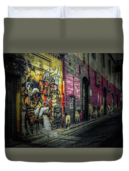 Duvet Cover featuring the photograph Dreamscape by Wayne Sherriff