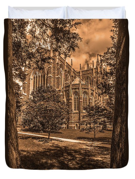 Duke Chapel Sepia Duvet Cover
