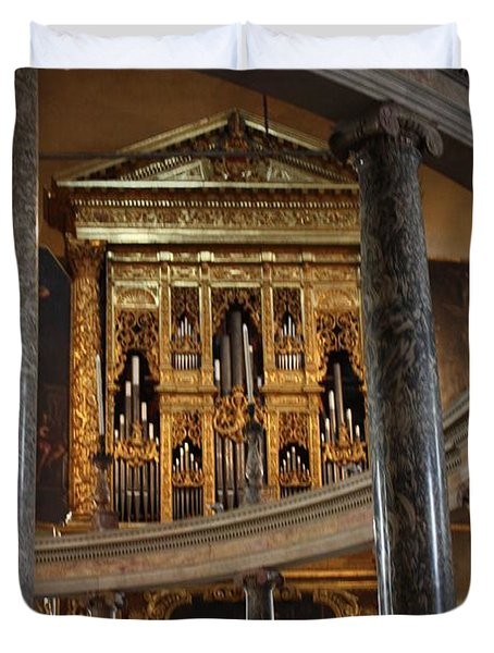 Duvet Cover featuring the photograph Duomo Verona by Pat Purdy