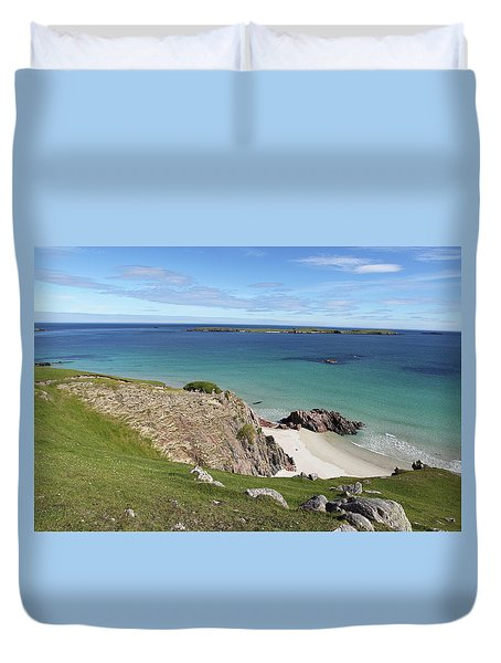 Duvet Cover featuring the photograph Durness - Scotland by Pat Speirs