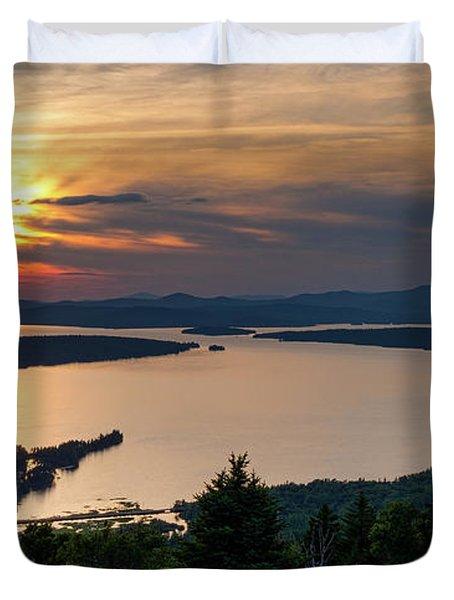 Dusk, Mooselookmeguntic Lake, Rangeley, Maine  -63362-63364 Duvet Cover