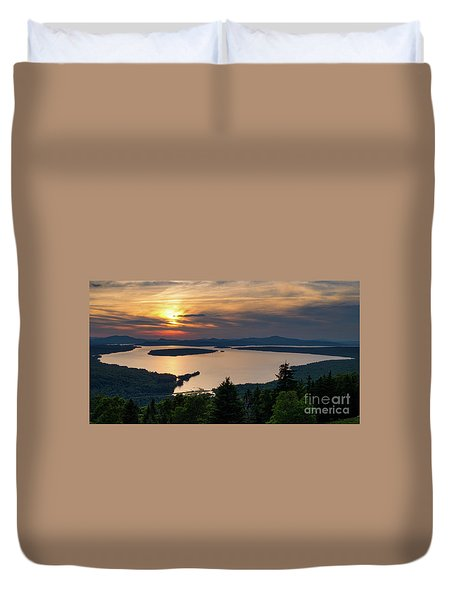 Dusk, Mooselookmeguntic Lake, Rangeley, Maine  -63362-63364 Duvet Cover