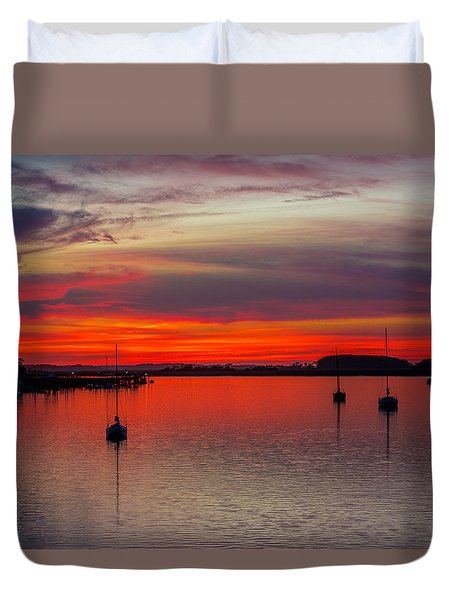 Duvet Cover featuring the photograph Dusk by RC Pics