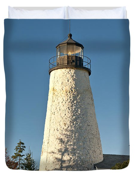 Dyce Head Lighthouse Duvet Cover by John Greim