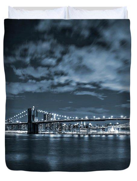 East River View Duvet Cover by Az Jackson