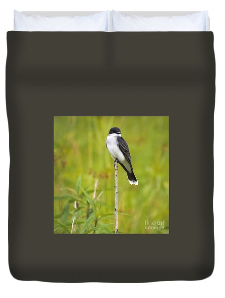 Duvet Cover featuring the photograph Eastern Kingbird  by Ricky L Jones