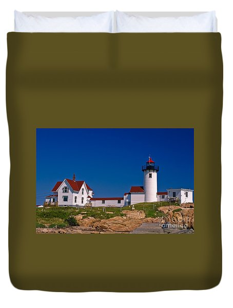 Eastern Point Lighthouse. Gloucester, Ma. Duvet Cover