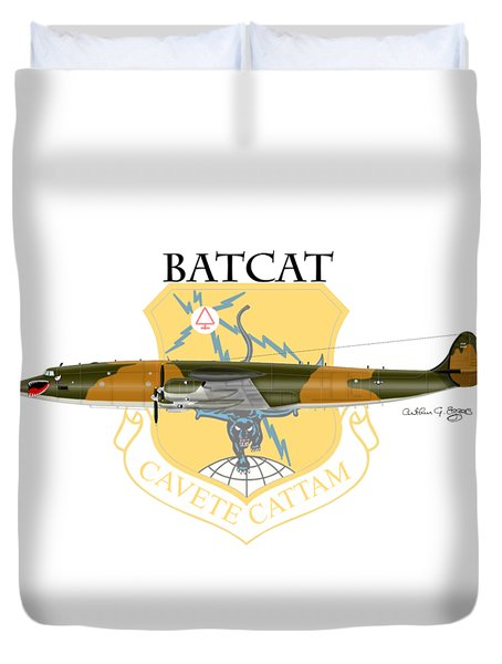 Ec-121r Batcat 6721498 Duvet Cover by Arthur Eggers