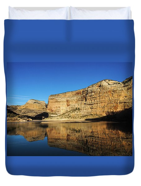 Duvet Cover featuring the photograph Echo Park In Dinosaur National Monument by Nadja Rider
