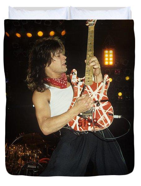 Eddie Van Halen Duvet Cover