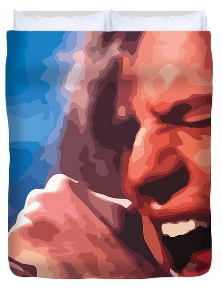 Eddie Vedder Duvet Cover by Gordon Dean II