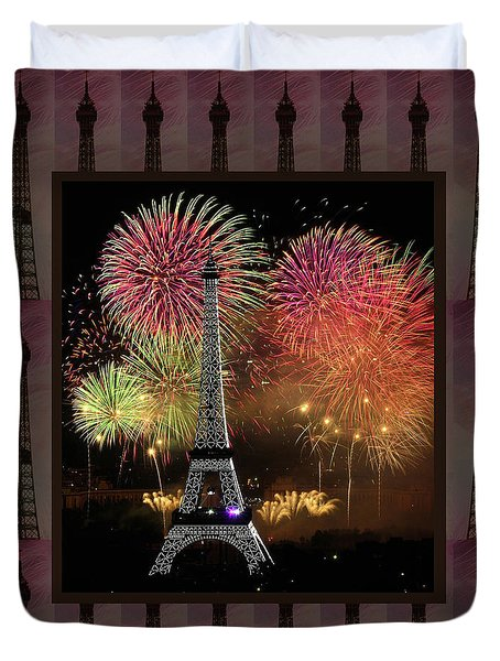 Effel Tower Paris France Landmark Photography Towels Pillows Curtains Tote Bags Duvet Cover