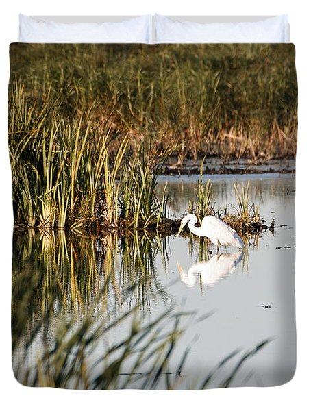 Egret - Horicon Marsh - Wisconsin Duvet Cover